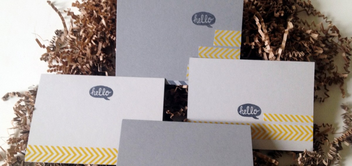Stationery: Kraft + Rubberstamps Cards