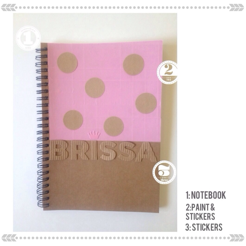 Pink back to school supplies by kraft&mint {modern crafts}
