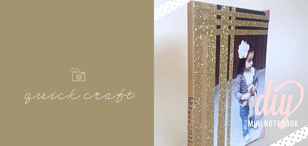 Quick Craft: {Gold + Photo mini notebook}