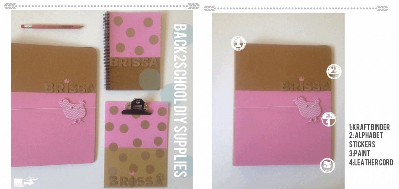 Pink Back to school DIY supplies