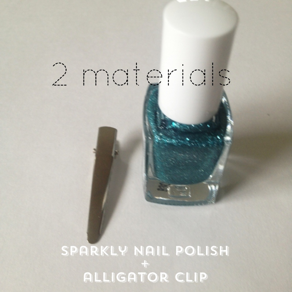 DIY Hair Clips with Nail Polish - kraft&mint