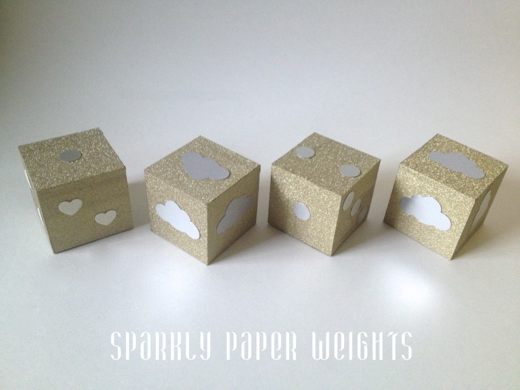 Quick Crafts: DIY sparkly paper weights