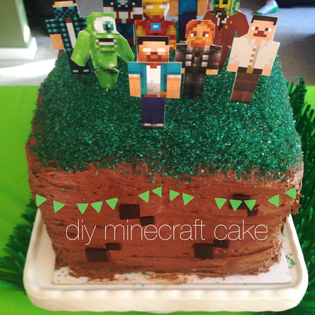 Quick DIY Minecraft Cake