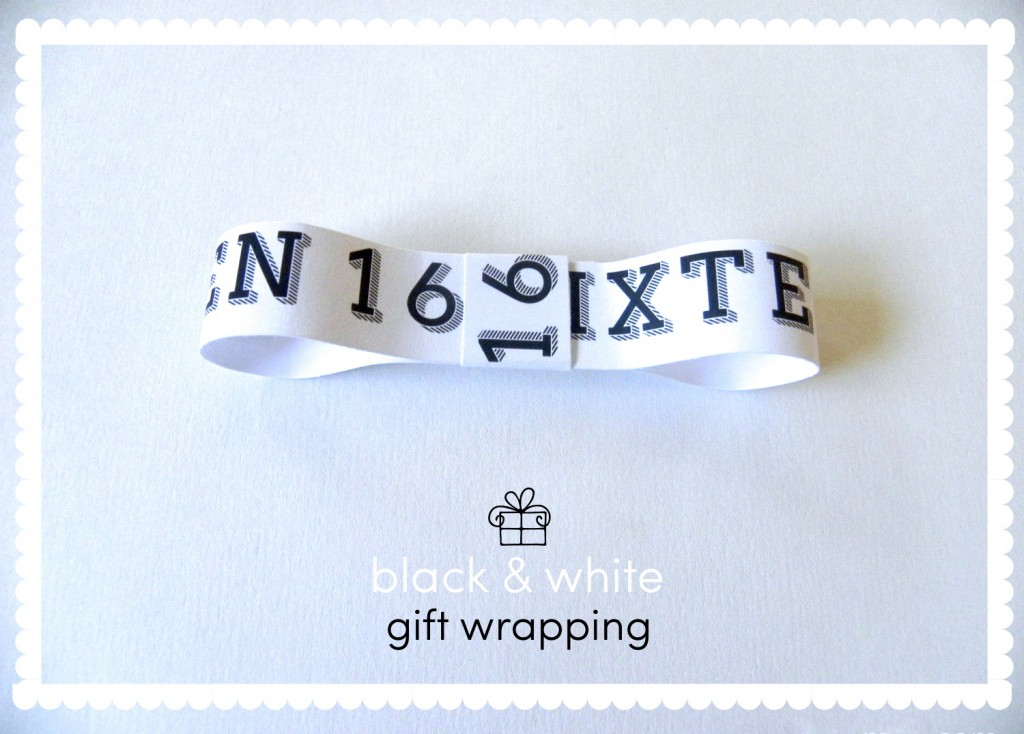 Inspiration: Black & white gift wrapping