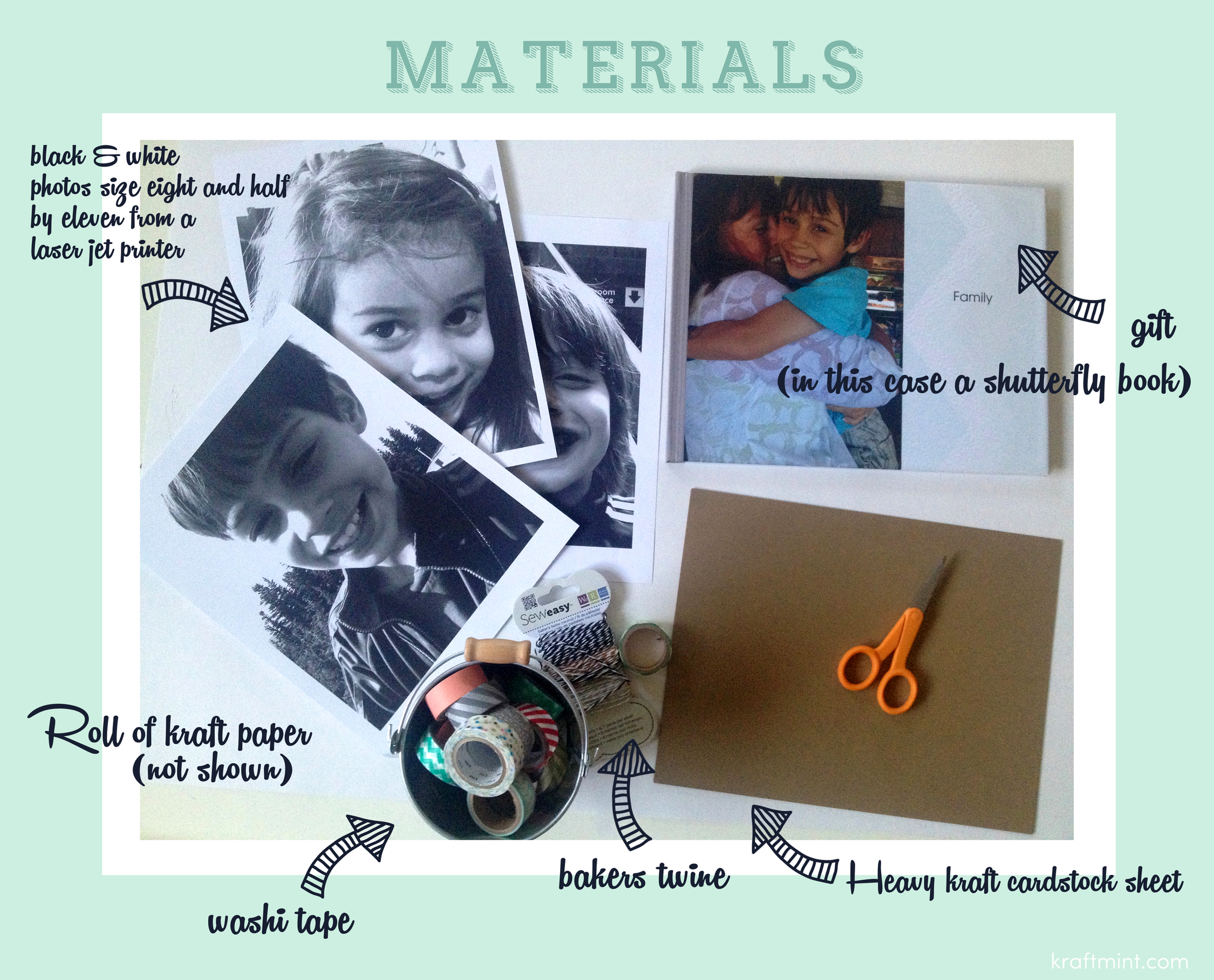 krafmint gift wrapping with big photos