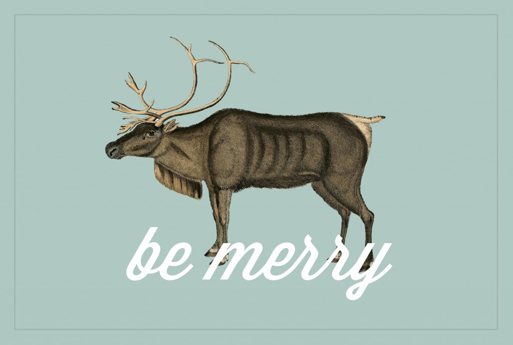 "Freebies: ""Be Merry"" Gift Tags"