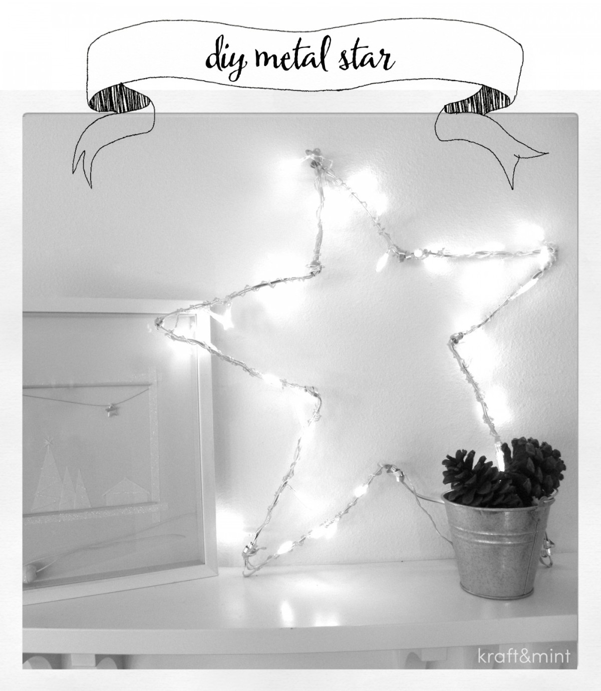 kraft&mint diy star tutorial