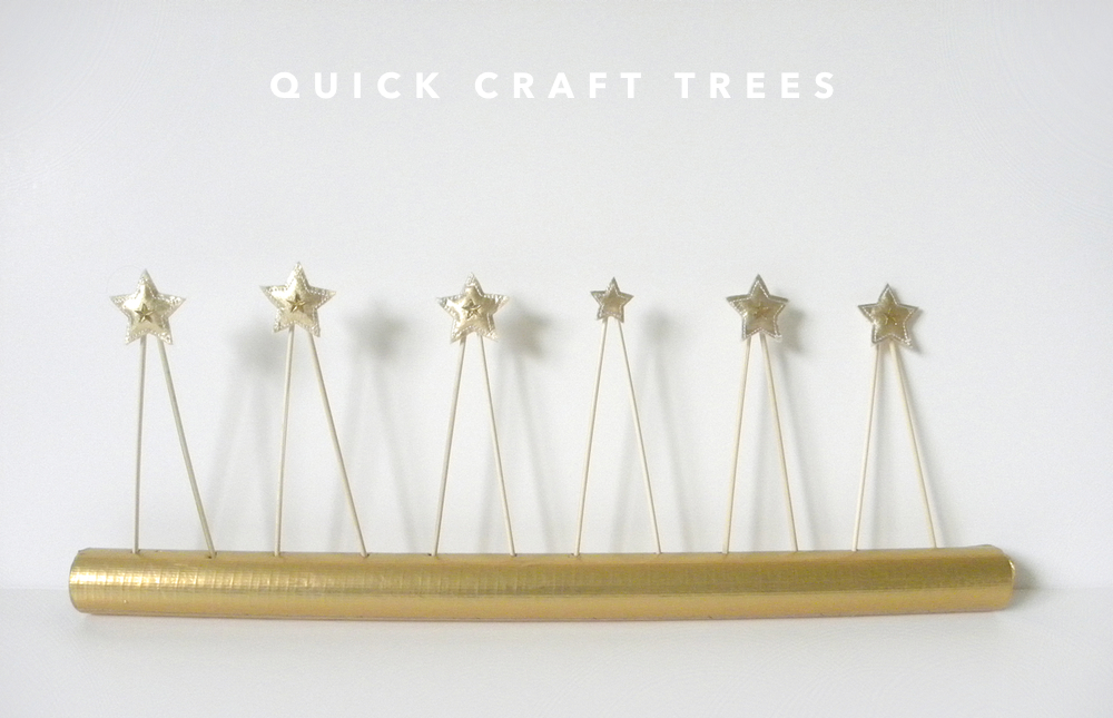 Quick Craft:  Triangle Trees for Christmas