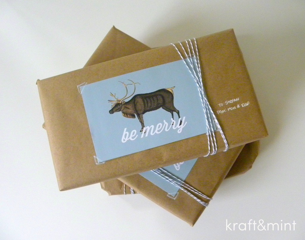 Inspiration:  kraft&mint gift wrapping