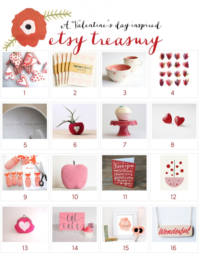 Inspiration: Etsy Treasury for Valentine's Day