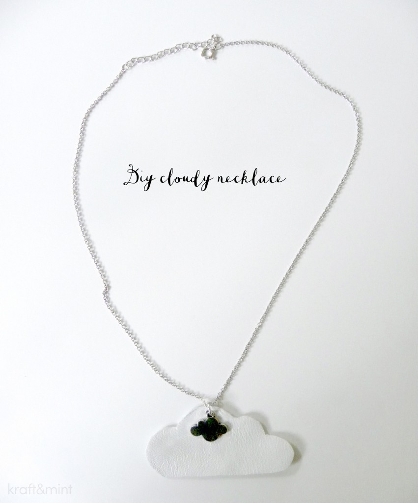 DIY Ampersand and Cloudy Necklace