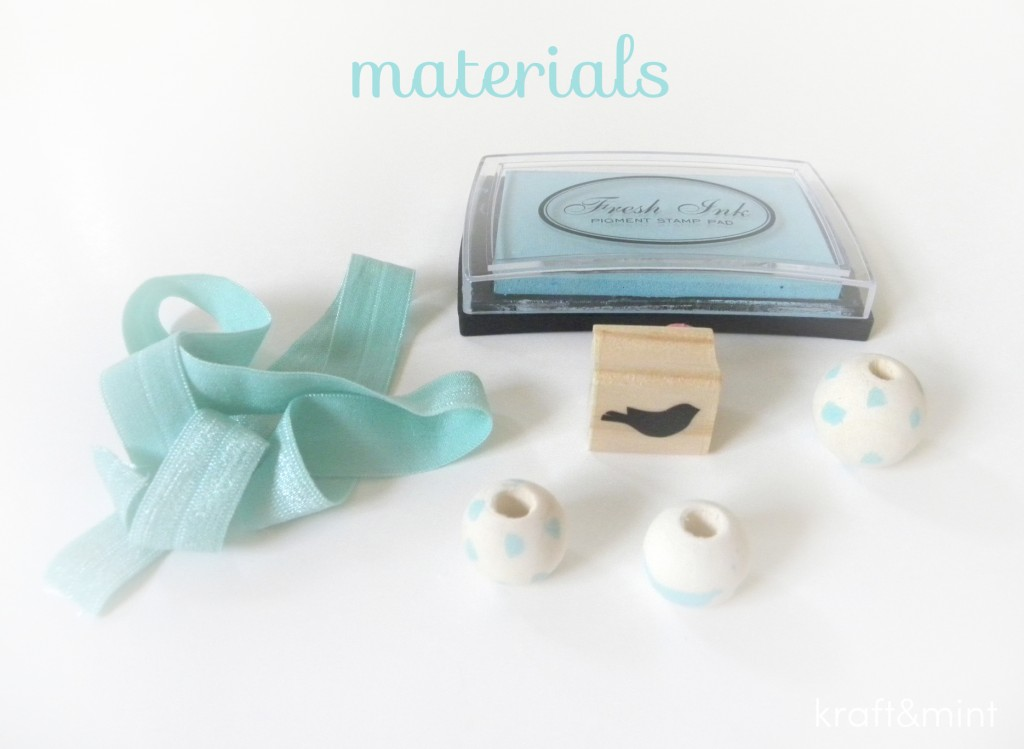 kraft&mint diy minty hair ties