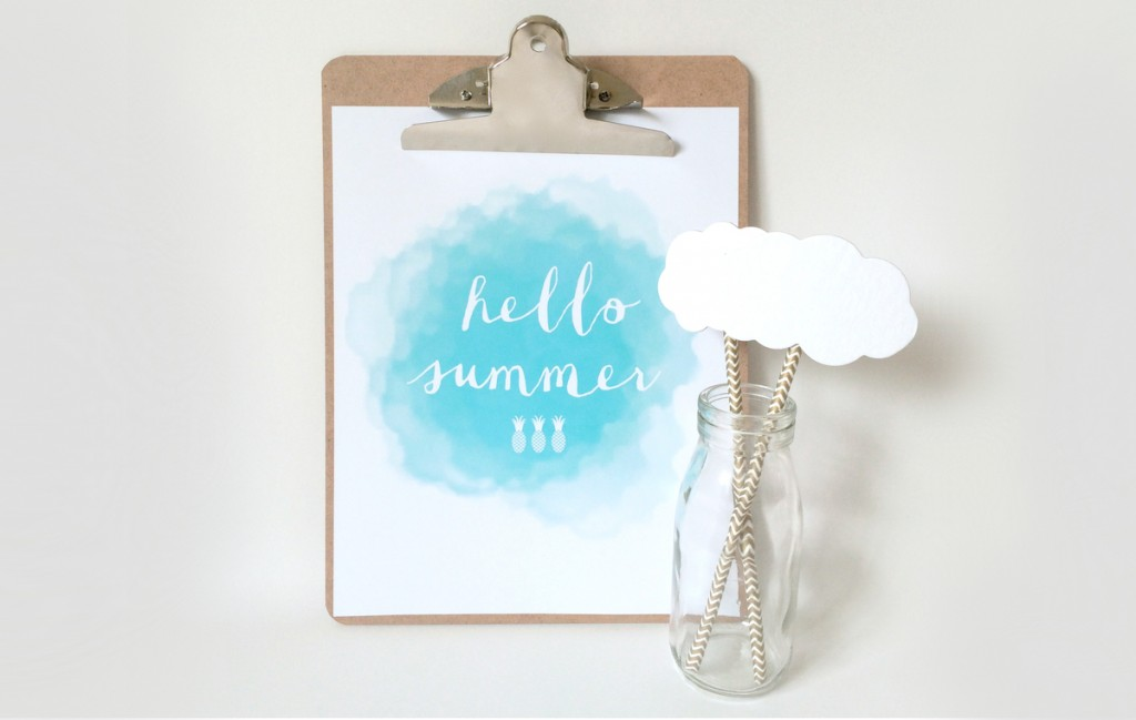 Hello Summer Free Printable!