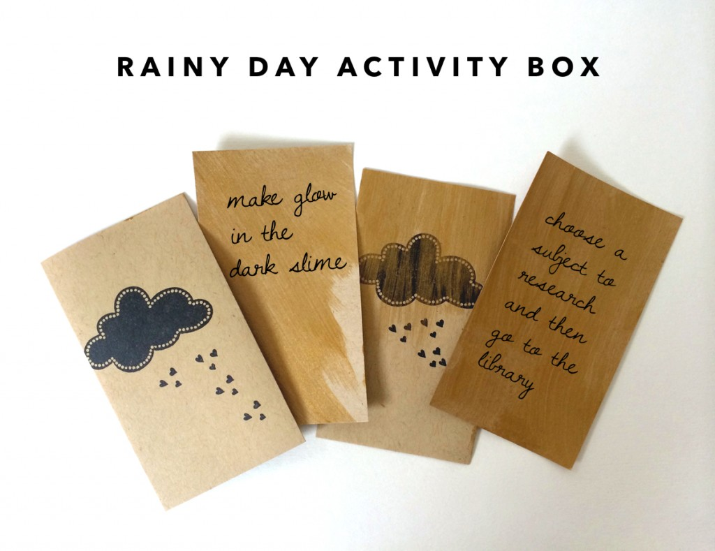 kraft&mint rainy day activity box