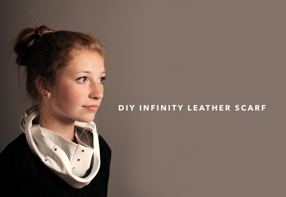 You can make this yourself: DIY Leather Scarf KIT