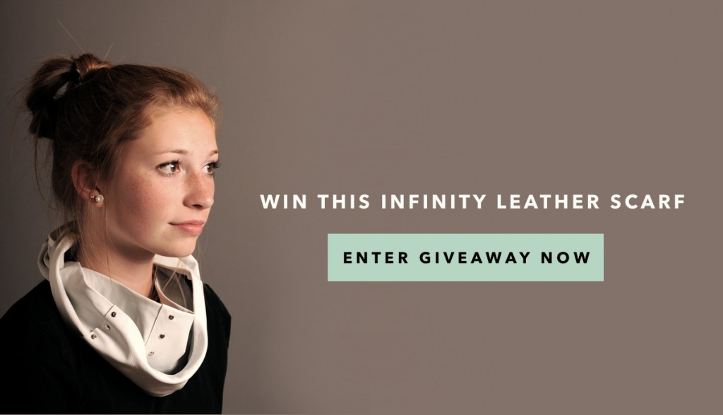 Giveaway! Win my first DIY KIT to create an infinity leather scarf!