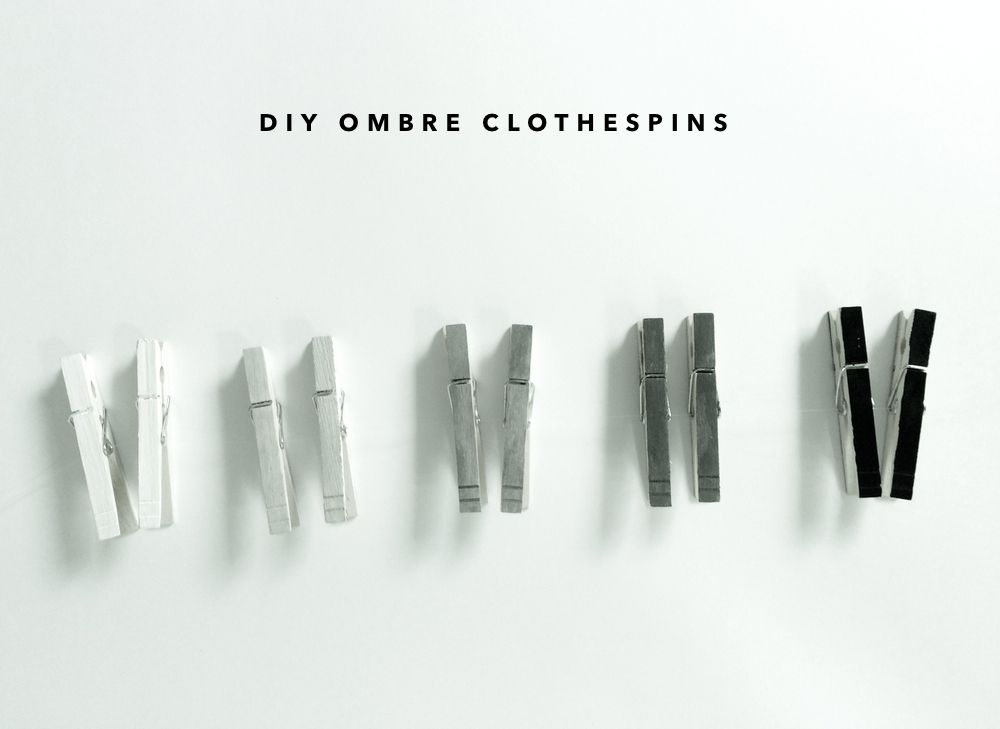 kraft&mint DIY Ombre Clothes pins tutorial