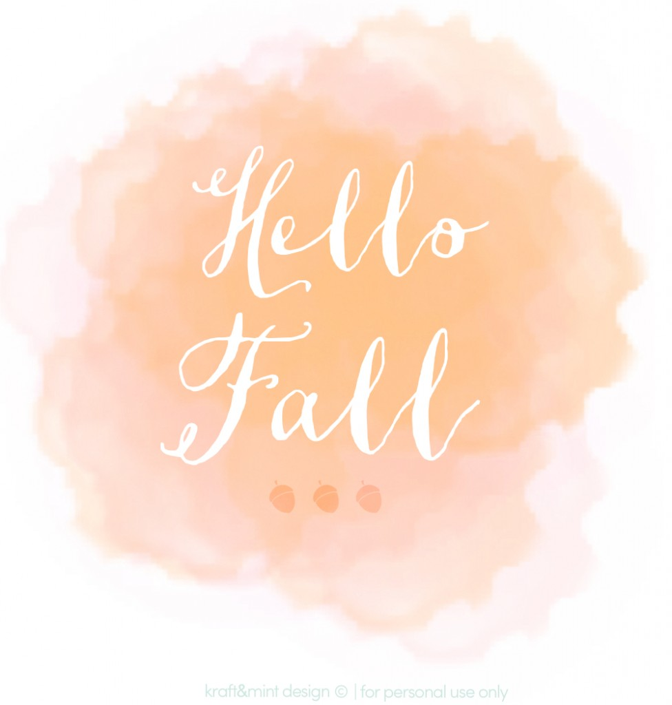kraft&mint Hello Fall Free Printable Design for personal use only