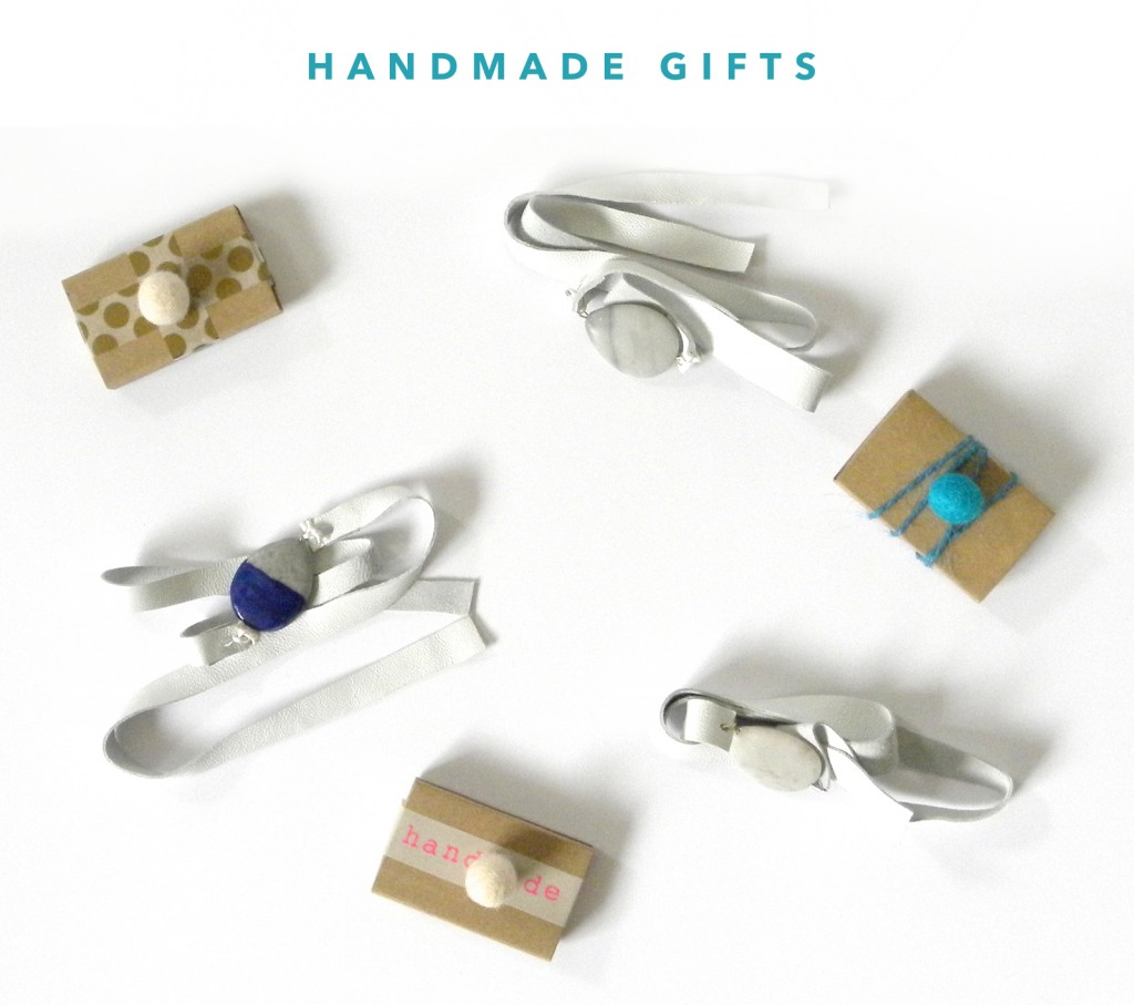 kraft&mint Blog Hop Handmade Gifts Tutorial for white leather bracelet