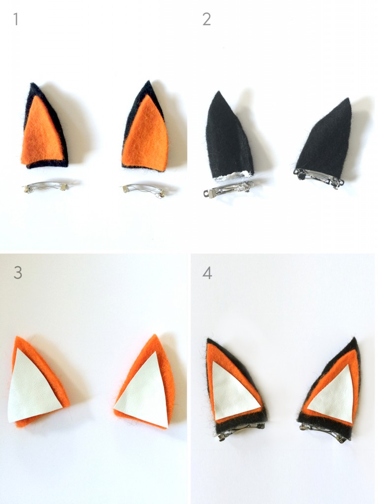 DIY Fox Clippies by kraft&mint diy tutorial