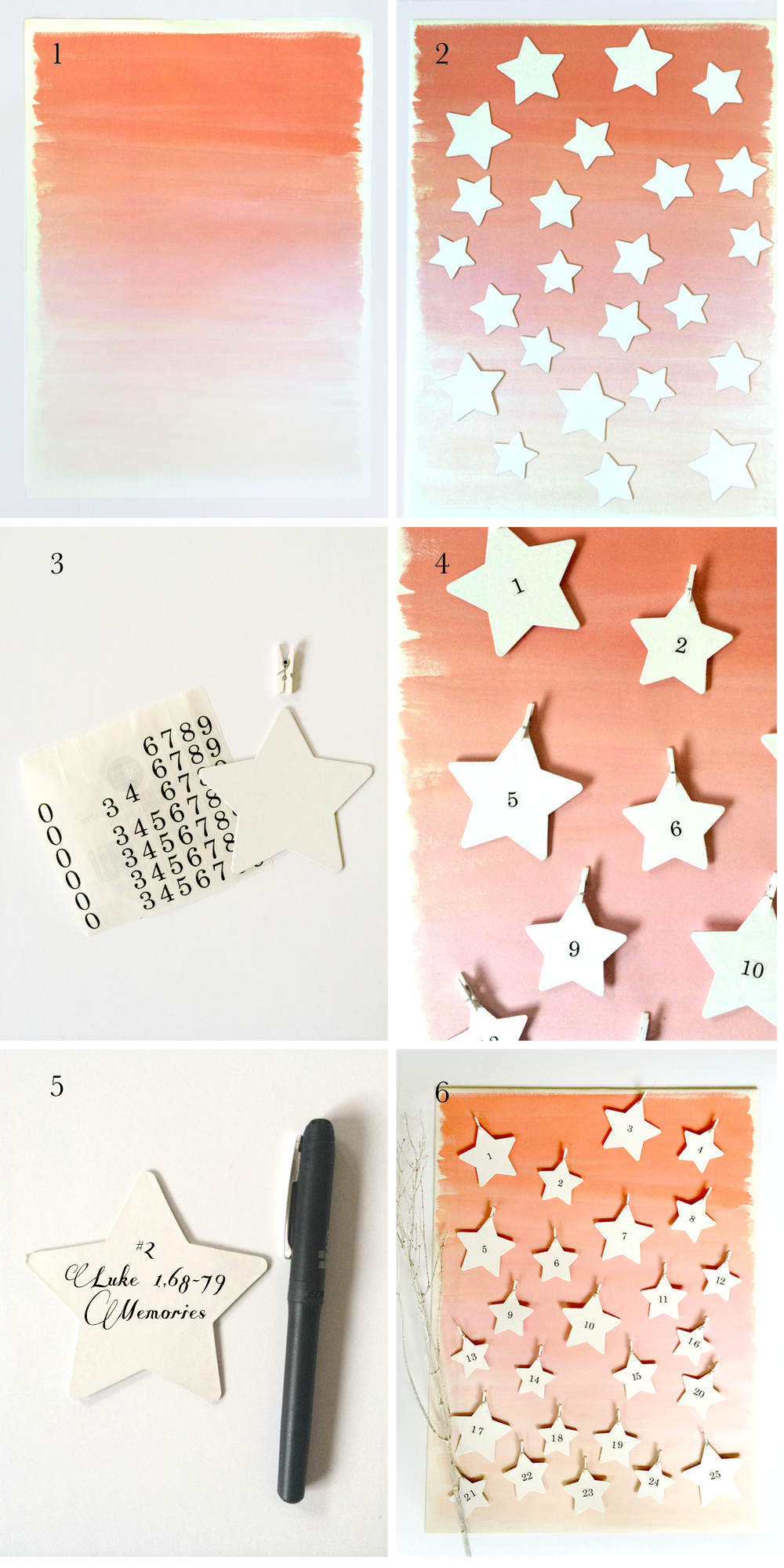 Starry Advent Calendar by kraft&mint kraftmint.com