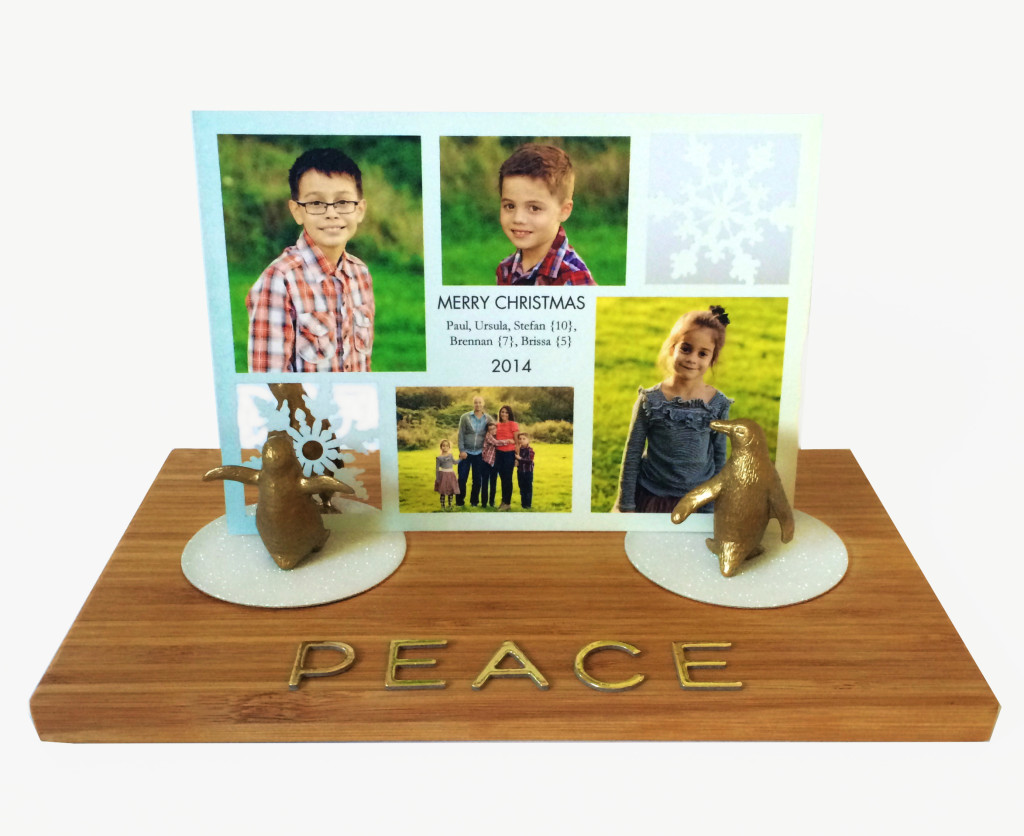 Holiday Card Holder and Display by kraft&mint for tinyprints
