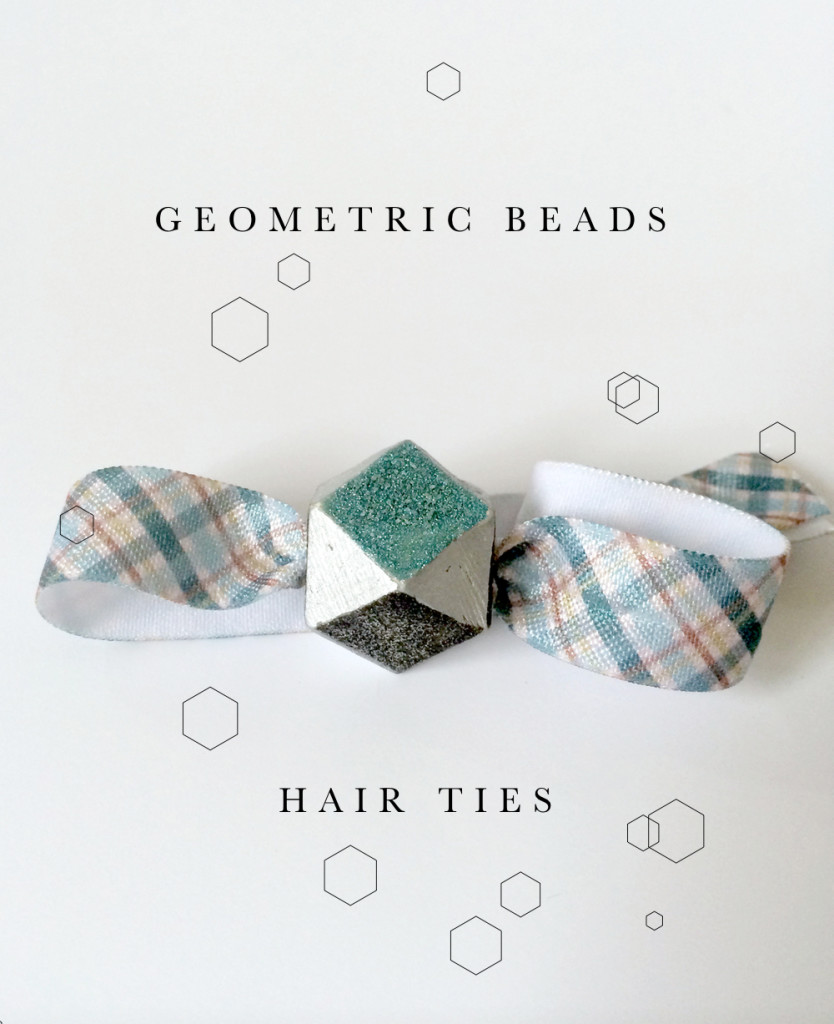 Geometric Beads Hair Ties DIY