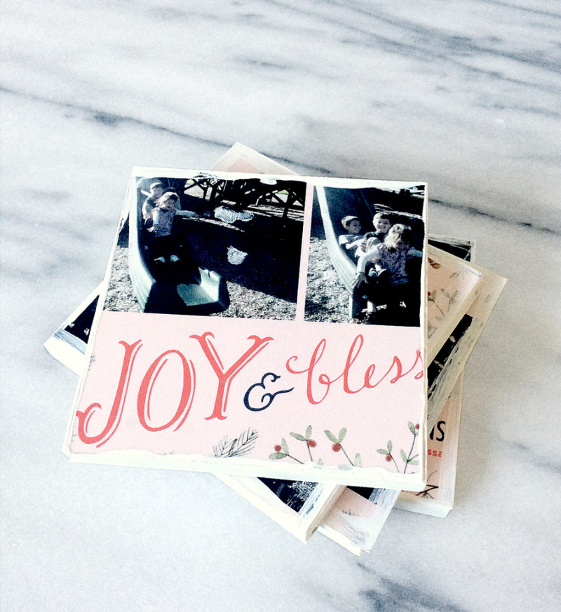 What to do with all those Christmas Cards? DIY Coasters
