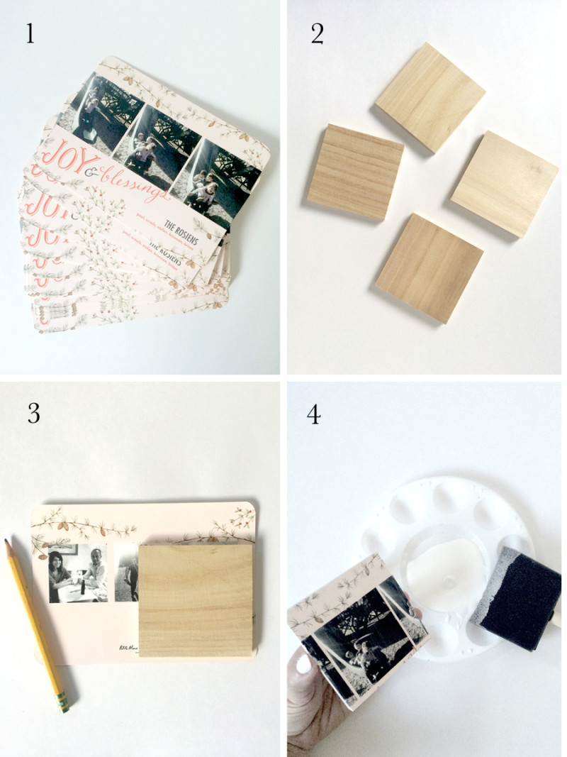 What to do with all those Christmas Cards? DIY Coasters - kraft&mint ...