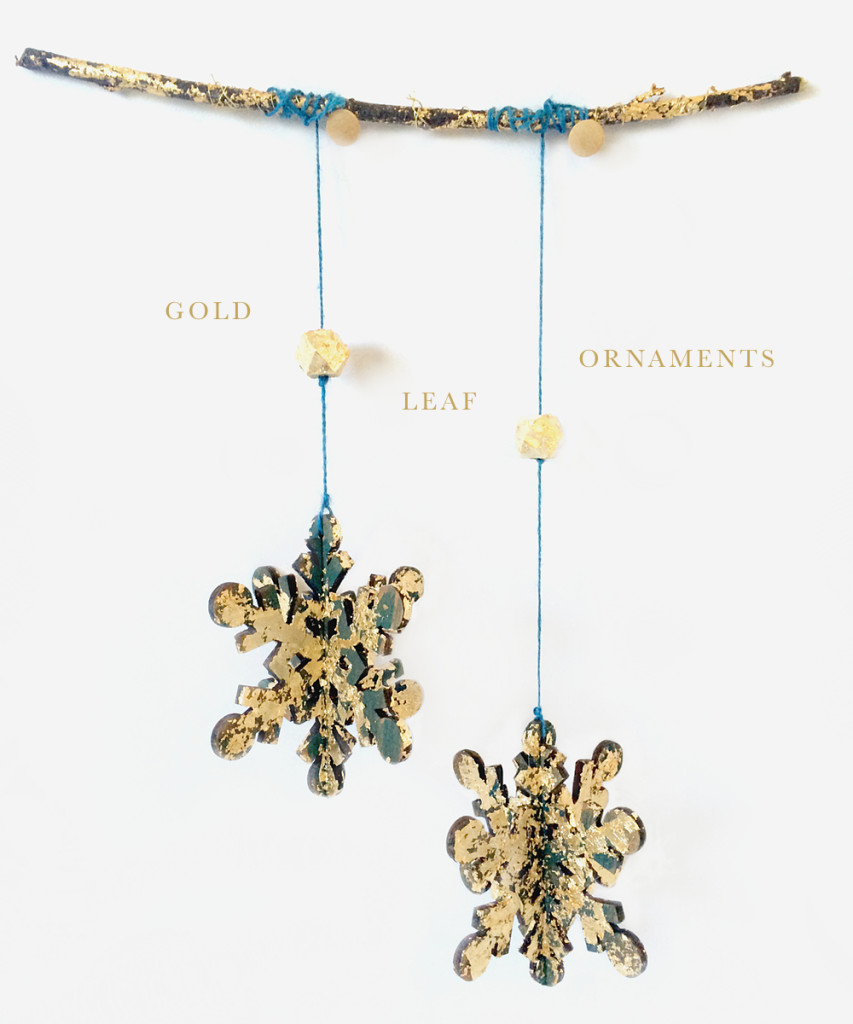 Gold Leaf Ornaments DIY with Oubly by kraft&mint kraftmint.coml