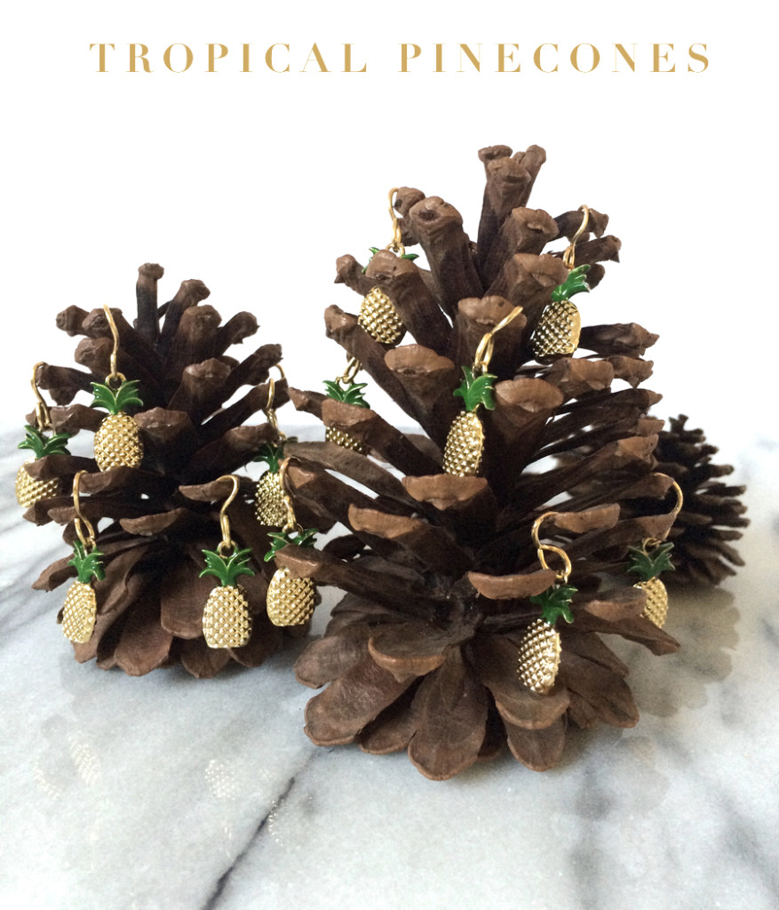 Trim Pinecones with Beads DIY