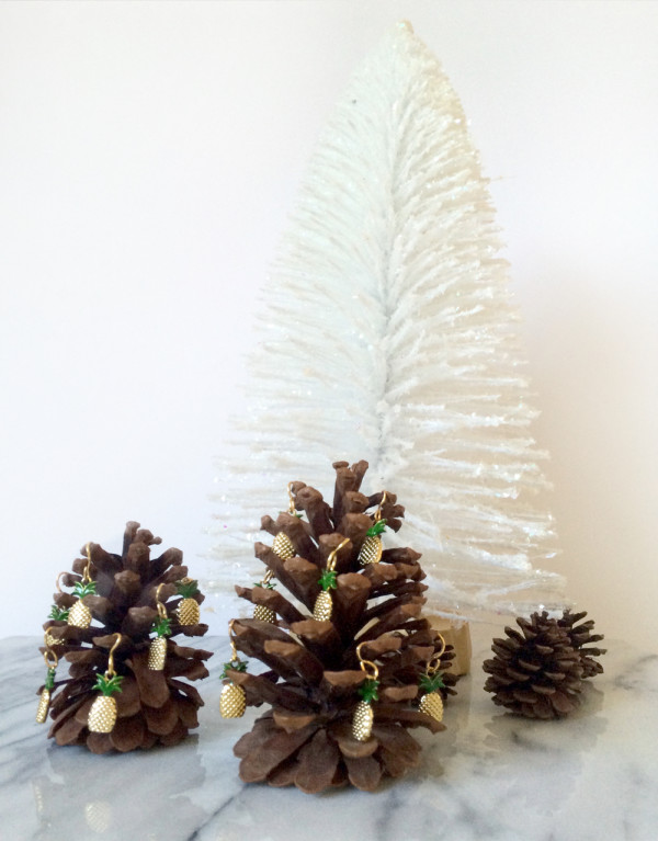 Pineapple Pinecones DiY kraft&mint tutorial