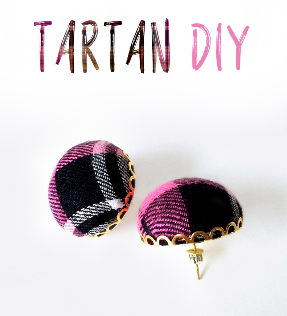 Make a pair of trendy plaid earrings by kraft&mint diy tutorial kraftmint dot com