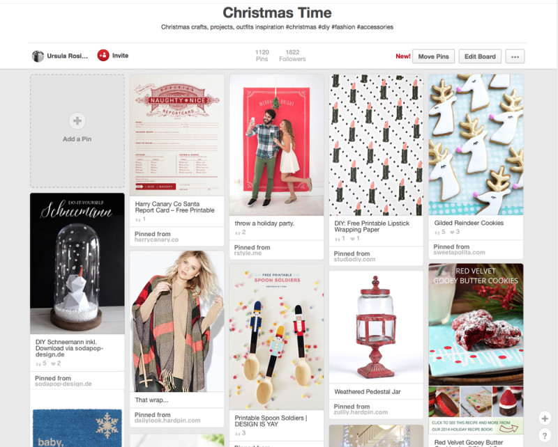 kraft&mint Christmas time Pinterest Board