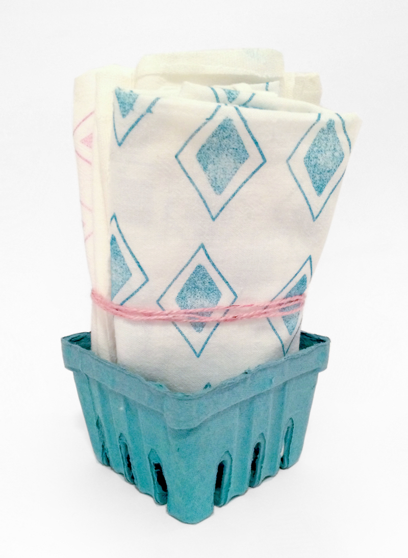 Make Printed Muslin Tea Towels with Aha Arts by kraft&mint