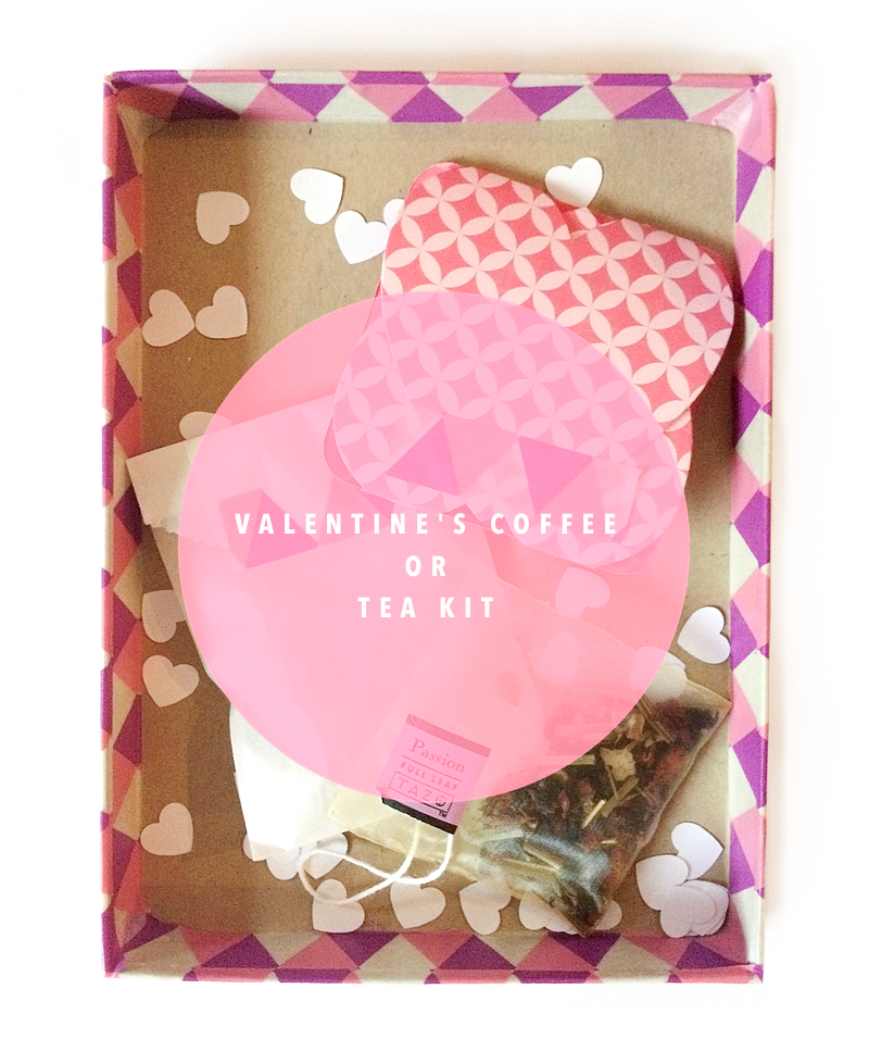Valentine's Day Coffee or Tea Kit by kraft&mint Tutorial DIY
