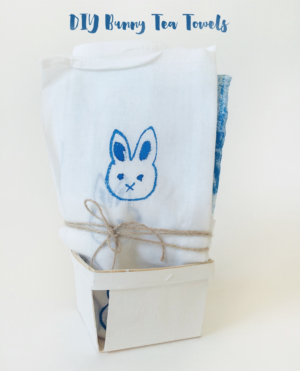Make Cute Bunny Tea Towels with Only 2 Materials