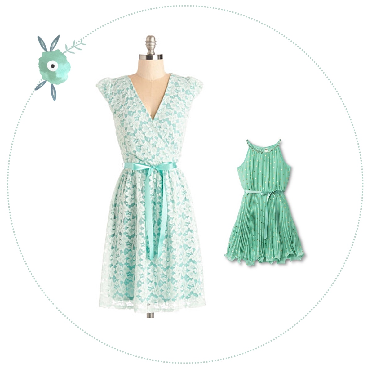 Easter dresses inspiration | Mother & daughter Easter dresses ideas