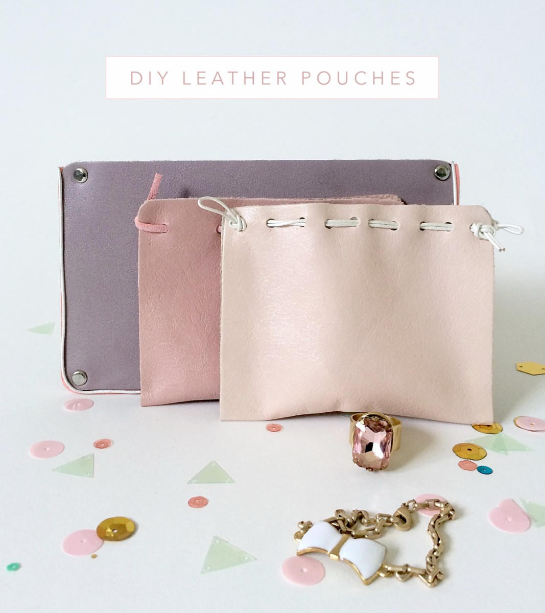 Make Pretty Leather Pouches to Store your Treasures | Part 1