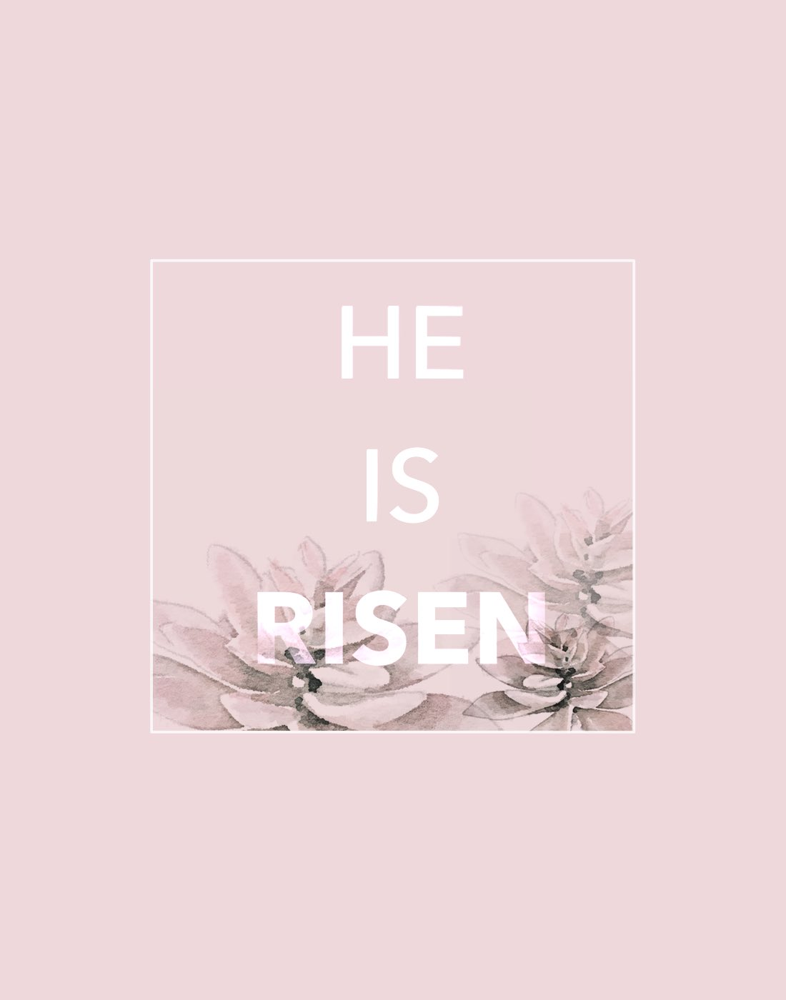 He is risen Easter Blog Post kraft&mint