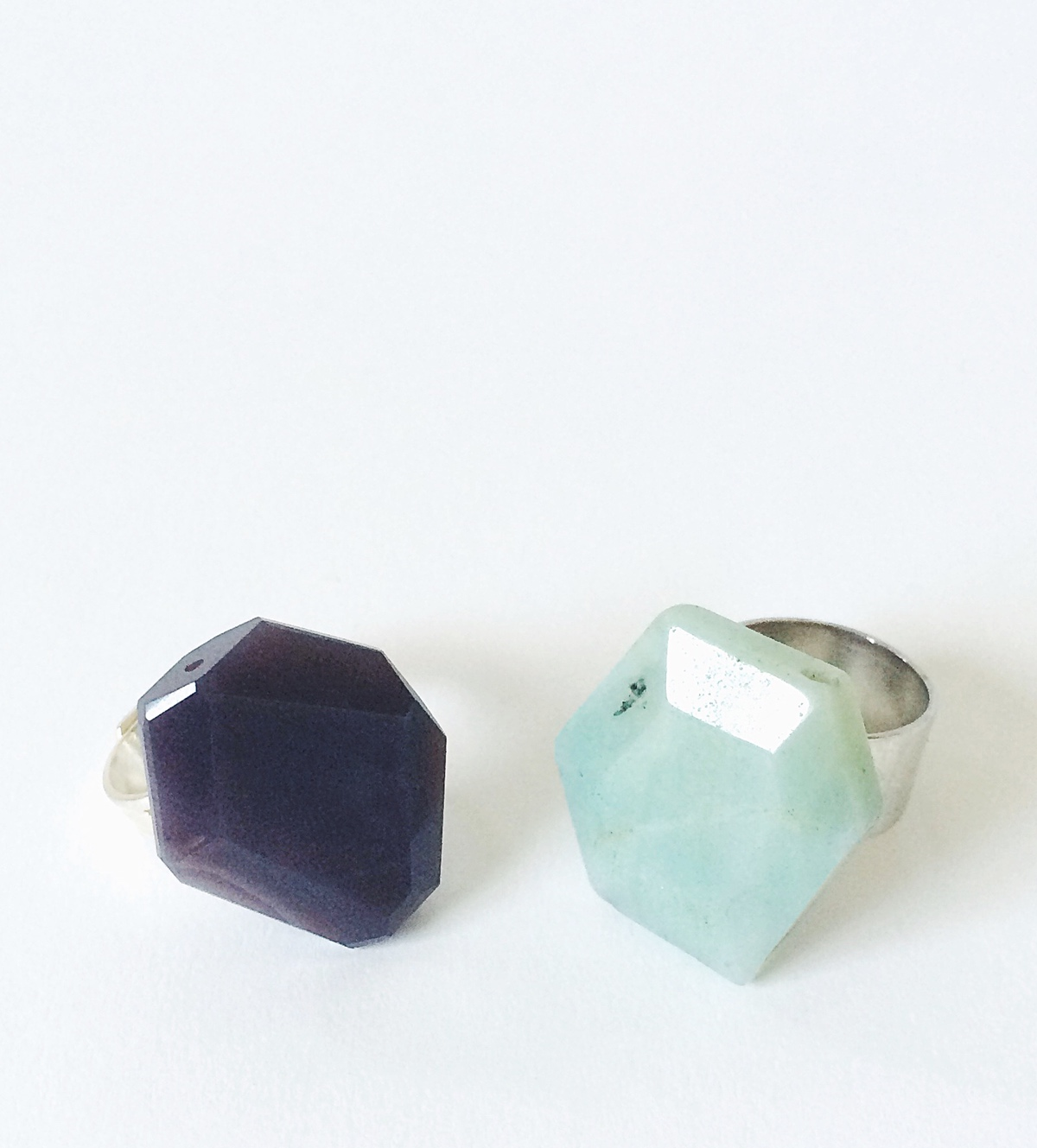 Easy Faceted Hexagon Rings DIY Tutorial by kraft&mint only two materials