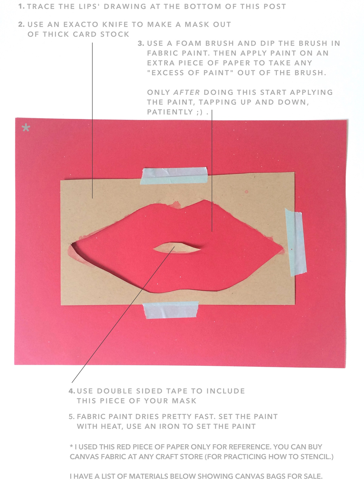 DIY Watercolor Lips artwork by kraft&mintv