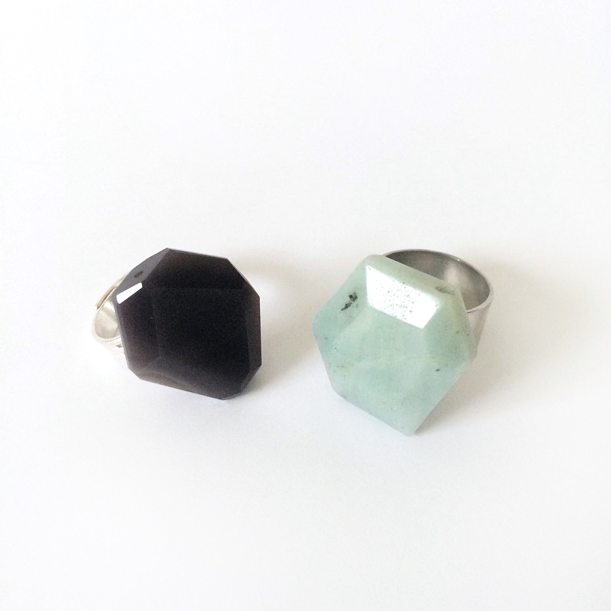 Easy Faceted Hexagon Rings