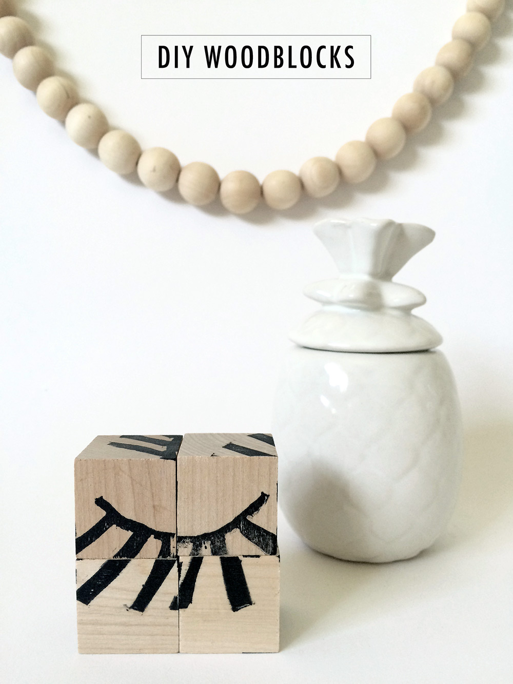 DIY Woodblocks with Custom Rubber-stamps