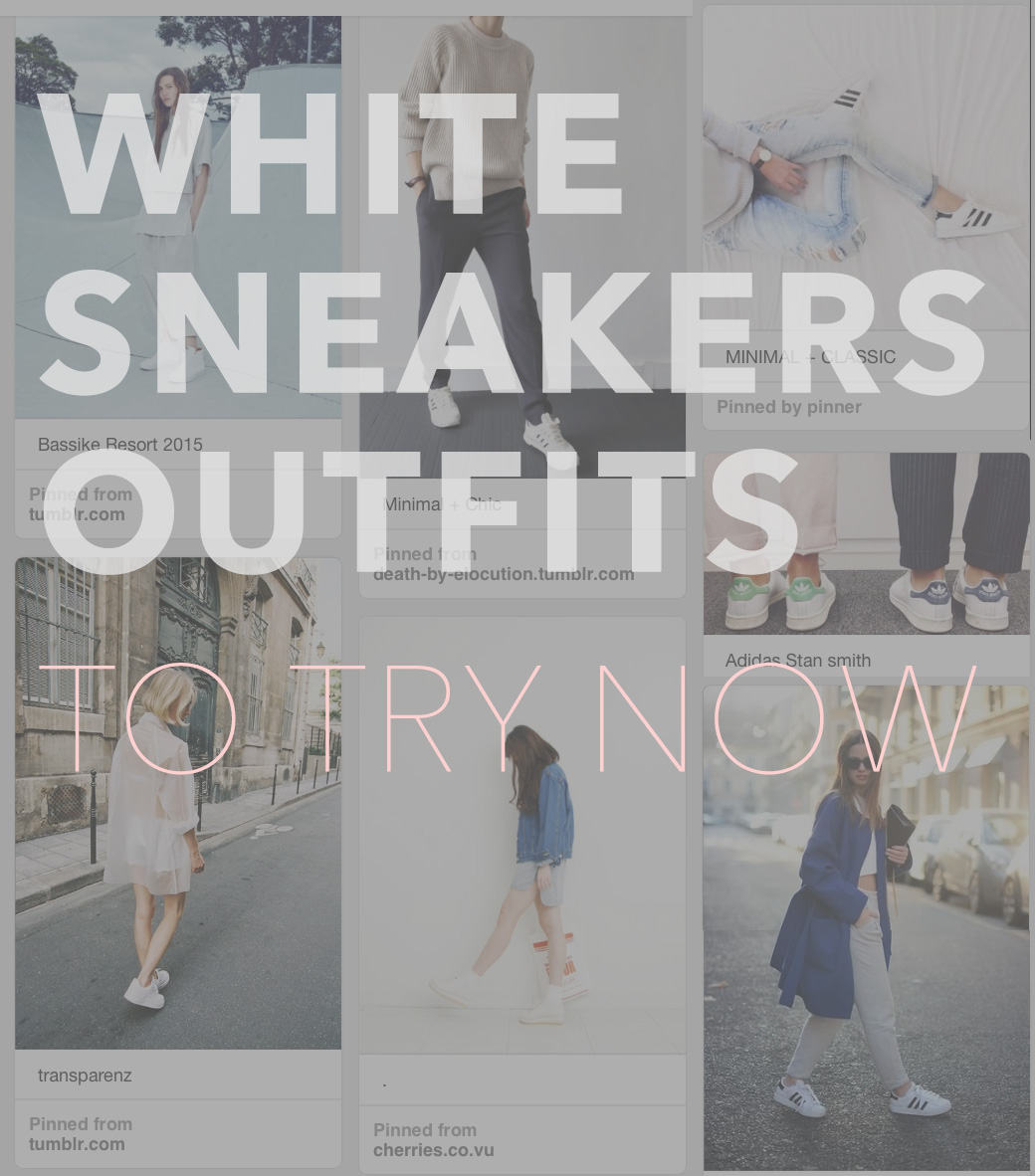 white sneaker outfits by kraft&mint