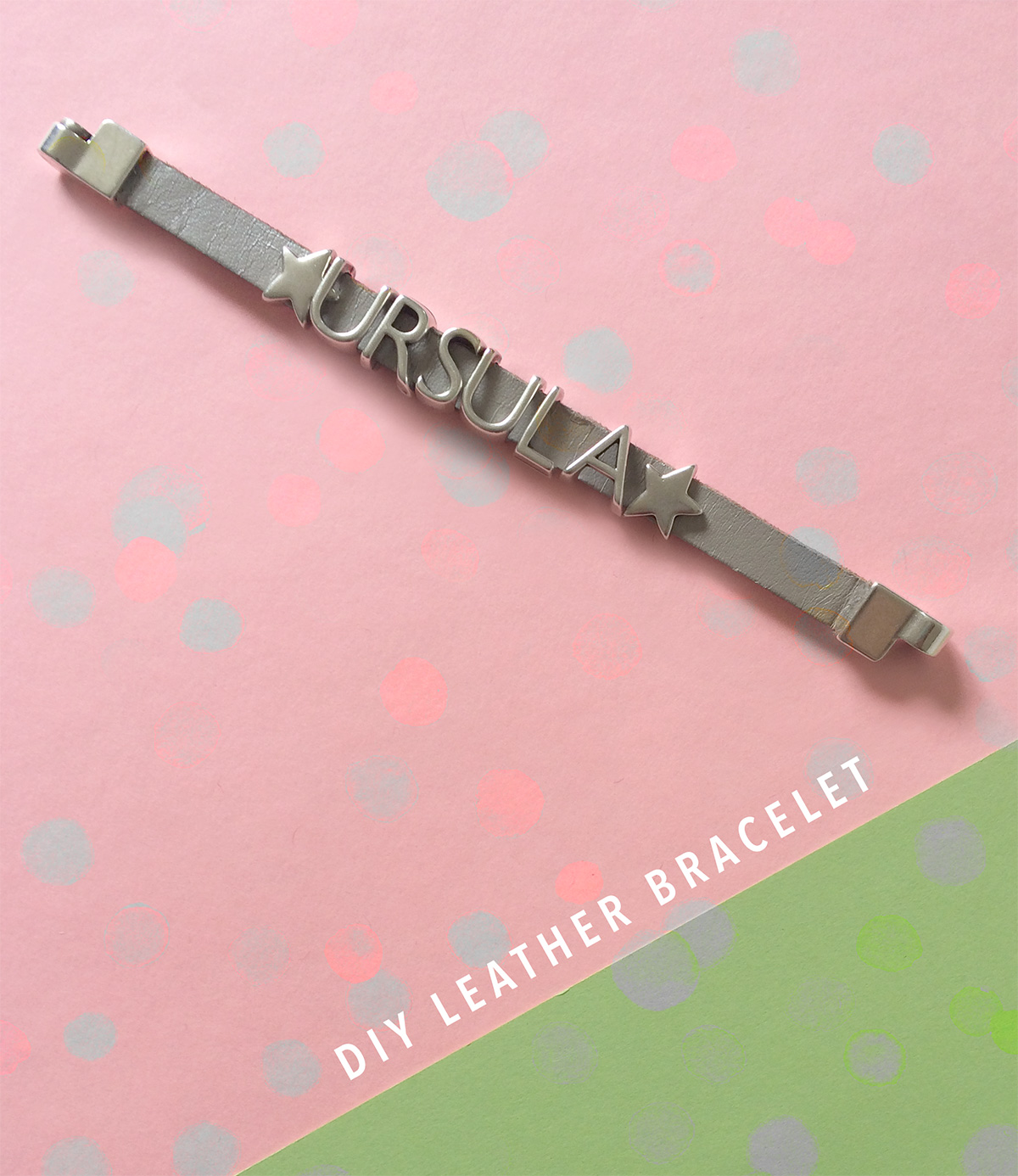 Make a leather bracelet that spells your name by kraft&mint DIY