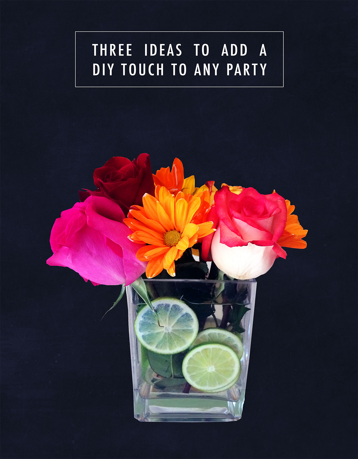 Three ideas to add a diy touch to any party. kraft&mint