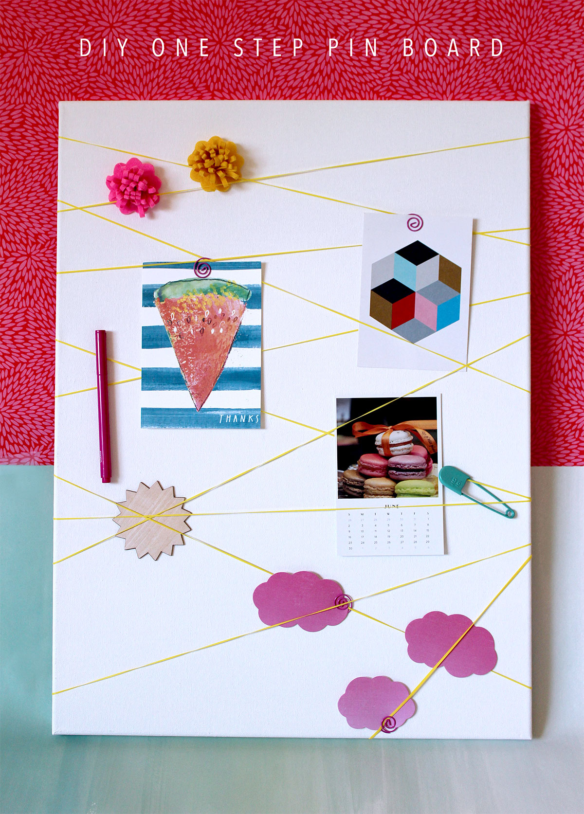 DIY One Step Pin Board