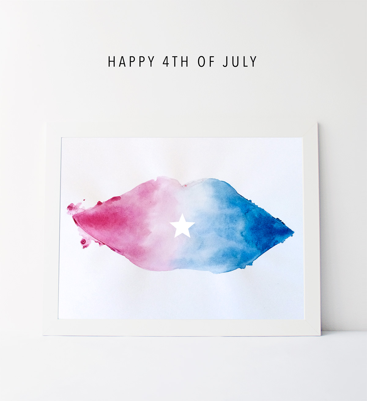 Happy 4th of July watercolors
