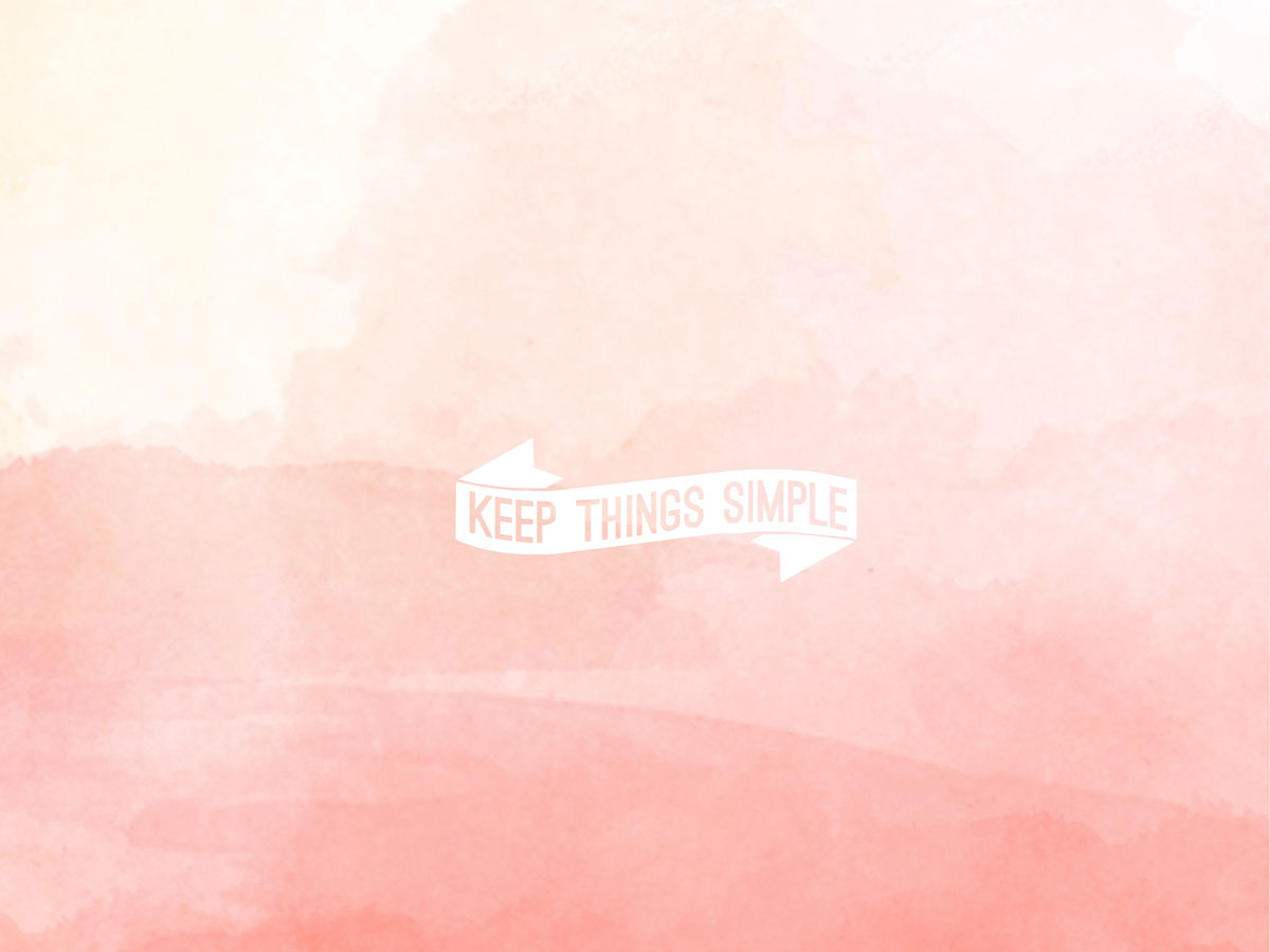 keepthingssimple